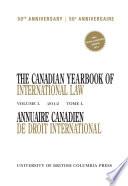 Annuaire Canadien de Droit International