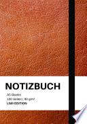 Notizbuch A5 Blanko 100 Seiten 90g M2 Soft Cover Braun Fsc Papier