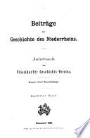 Beiträge zur Geschichte des Niederrheins