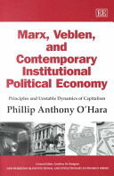 Marx Veblen And Contemporary Institutional Political Economy book