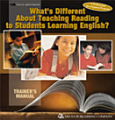 What s Different about Teaching Reading to Students Learning English