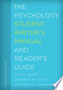 The Psychology Student Writer S Manual And Reader S Guide