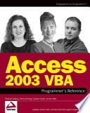 Access 2003 Vba Programmer S Reference book