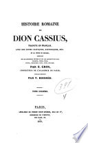 Histoire romaine de Dion Cassius