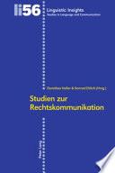 Studien zur Rechtskommunikation