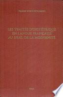 Les trait  s d obst  trique en langue fran  aise au seuil de la modernit