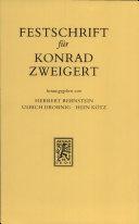 Festschrift f  r Konrad Zweigert zum 70  Geburtstag