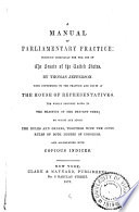 A Manual of Parliamentary Practice