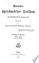 Deutsches Sprichw  rter lexikon  bd  Weib bis Zwug  Zus  tze und erg  nzungen