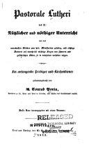 Pastorale Lutheri