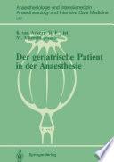 Der geriatrische Patient in der Anaesthesie