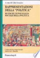 Rappresentazioni della   politica    Ricerche in psicologia sociale della politica