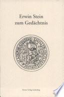 Erwin Stein zum Gedächtnis