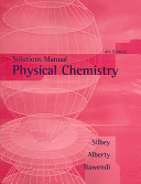 Physical Chemistry, Solutions Manual