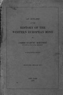 An Outline of the History of the Western European Mind