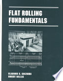Flat Rolling Fundamentals Pdf/ePub eBook