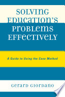 Solving Education s Problems Effectively