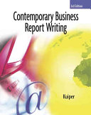 Contemporary Business Report Writing