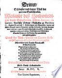 Theil  Der guldenen Sendtschreiben Weiland de   Hochw  rdigen vnd Wolgebornen Herrn Antonij de Gueuara  ParfusserOrdens  Bischoffens zu Mondonedo    0