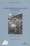 illustration L'anesthésie-réanimation en France