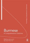 Burmese: A Comprehensive Grammar