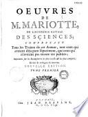 Oeuvres de Mariotte,...