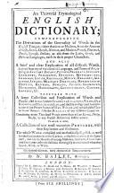 An universal etymological English dictionary ... Seventeenth edition, etc