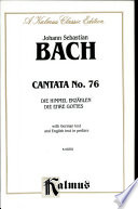 Cantata No 76 Die Himmel Erzahlen Die Ehre Gottes