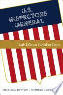 U S  Inspectors General Book PDF