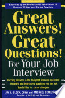Great Answers! Great Questions! For Your Job Inter