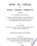 How to speak and write French correctly
