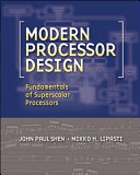 Modern Processor Design  Fundamentals of Superscalar Processors