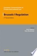 Ebook Brussels I Regulation Epub Ulrich Magnus,Peter Mankowski Apps Read Mobile