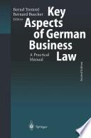 Key Aspects Of German Business Law