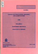 Zambia, Census of Population, Housing, and Agriculture, 1990