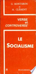 illustration Le socialisme, dialogue entre Georges Montaron et Marcel Clément