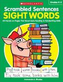 Scrambled Sentences  Sight Words