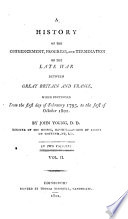 a history of the late war between great britain and france 1793 to 1801