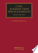 Civil Jurisdiction and Judgments