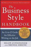 The Business Style Handbook  Second Edition  An A to Z Guide for Effective Writing on the Job