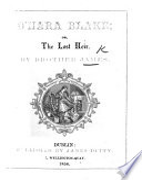 O Hara Blake  or the Lost Heir