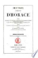 Oeuvres completes d'Horace traduites en francais et en prose par J. B. Monfalcon..