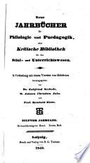 Jahnscher Jahrbücher für Philologie und Paedagogik