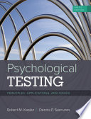 Psychological Testing  Principles  Applications  and Issues
