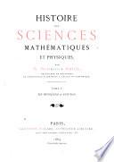Histoire Des Sciences Mathématiques Et Physiques: De Huyghens à Newton