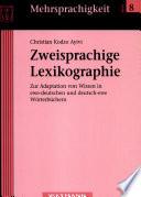 Zweisprachige Lexikographie