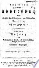 Allgemeines Industrie-Adressbuch der Königlich Preussischen Haupt- und Residenzstadt Berlin auf das Jahr ...