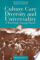 Culture Care Diversity   Universality