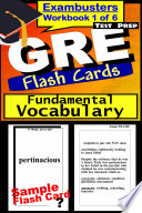 GRE Test Prep Essential Vocabulary 1 Review  Exambusters Flash Cards  Workbook 1 of 6