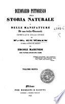 Dizionario pittoresco della storia naturale e delle manifatture ad uso della gioventu